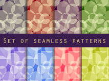 Seamless pattern of transparent geometric shapes. A set of abstract designs. Stock Photography