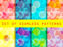 Seamless pattern of transparent geometric shapes. A set of abstract designs. Stock Images