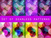 Seamless pattern of transparent geometric shapes. A set of abstract designs. Royalty Free Stock Images