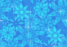 Seamless pattern with transparent snowflakes Stock Photo