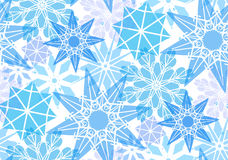 Seamless pattern with transparent snowflakes Royalty Free Stock Image