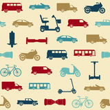 Seamless pattern with transport icons Stock Photo