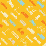 Seamless pattern with transport icons Stock Photography