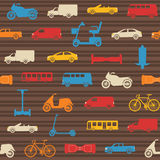 Seamless pattern with transport icons Stock Image