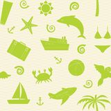 Seamless pattern with travel icons Royalty Free Stock Photos