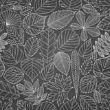 Seamless pattern with tree leaves stock illustration