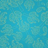 Seamless Pattern with Tree Silhouettes Stock Photography