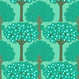 Seamless pattern with trees Royalty Free Stock Photography
