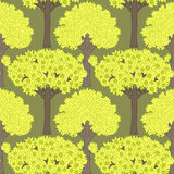Seamless pattern with trees Stock Photo