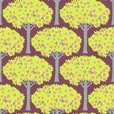 Seamless pattern with trees Royalty Free Stock Photos