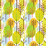 Seamless pattern of trees Royalty Free Stock Images