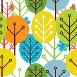 Seamless pattern of trees Stock Images