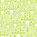 Seamless pattern with trees Stock Photography