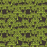Seamless pattern with trees Stock Photos