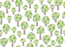 Seamless pattern trees. Royalty Free Stock Photos