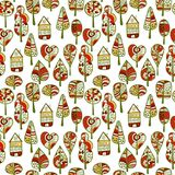A seamless pattern with trees,autumn leaf background.  Royalty Free Stock Photography