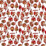 A seamless pattern with trees,autumn leaf background.  Stock Photography