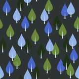 Seamless pattern with trees or leaves Royalty Free Stock Image