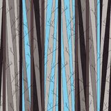 Seamless pattern with trees without leaves royalty free stock photos