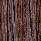 Seamless pattern with trees without leaves stock photos