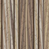 Seamless pattern with trees without leaves royalty free stock images
