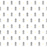 Seamless Pattern With Trees Royalty Free Stock Images