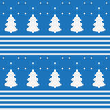 Seamless pattern of trees and snow. Christmas mood Royalty Free Stock Photo