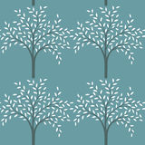 Seamless pattern of trees. Royalty Free Stock Photo