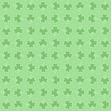 Seamless pattern with trefoil Stock Photo