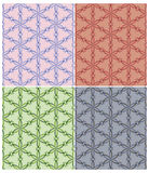 Seamless pattern of triangle flowers Royalty Free Stock Images