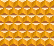 Seamless pattern of triangles. Seamless pattern of yellow and brown triangles Stock Photo