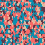 Seamless pattern with triangles . Abstract background in bright colors. Vector illustration. A good choice for the wrapping, home decor, website, brochures and vector illustration