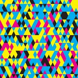 Seamless pattern with triangles . Abstract background in bright colors. Vector illustration. A good choice for the wrapping, home decor, website, brochures and Royalty Free Stock Image