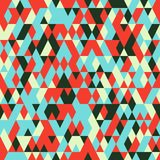 Seamless pattern with triangles . Abstract background in bright colors. Vector illustration. A good choice for the wrapping, home decor, website, brochures and Stock Photos
