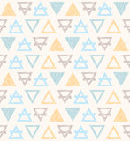 Seamless pattern with triangles. Royalty Free Stock Image