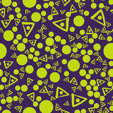 Seamless pattern with triangles and connected spots. Vector repeating texture. Stock Photo