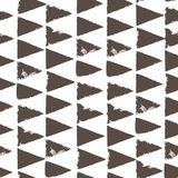 Seamless pattern with triangles. Forms printed in ink. Hand drawn. Vector illustration Stock Photography