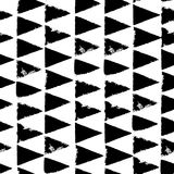 Seamless pattern with triangles. Forms printed in ink. Hand drawn. Vector illustration Royalty Free Stock Photography