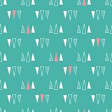 Seamless pattern of triangles on a mint green background. royalty free illustration