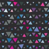 Seamless pattern of triangles, pink and blue on Royalty Free Stock Photos