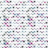 Seamless pattern of triangles, pink and blue on Stock Photos