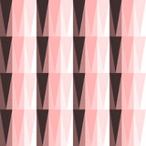 Seamless pattern with triangles. In pink color Stock Photography