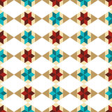Seamless pattern with triangles and rhombuses. Stock Photo