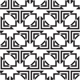 Seamless pattern of triangles and squares on a white background. Stock Photography