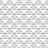 Seamless pattern of triangles. Unusual lattice. Geometric background. Vector illustration. Good design stock illustration