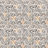 Seamless pattern of triangles Royalty Free Stock Image