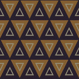 Seamless pattern with triangles Stock Images