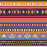 Seamless pattern with tribal aztec motives. Stock Photos