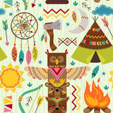 Seamless pattern with tribal elements. Vector illustration, eps Royalty Free Stock Image