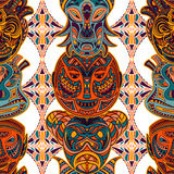 aztec mask template - seamless colorful aztec geometric tribal pattern royalty